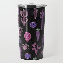 Cactus Pattern On Chalkboard Travel Mug