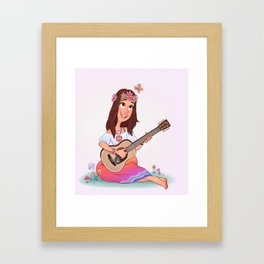 Hippy Girl Framed Art Print