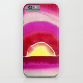 Ocean Sunrise - Red Skies Portrait Painting by Georgia O'Keeffe iPhone Case
