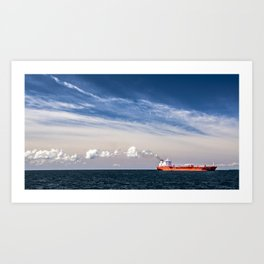 Take Red Ship to Your Love Art Print