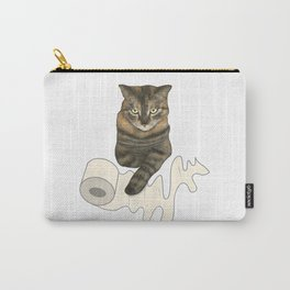 Sassy Cat, Master of Toilet Paper Carry-All Pouch