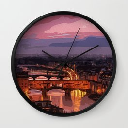 Florence, beauty of Italy Wall Clock