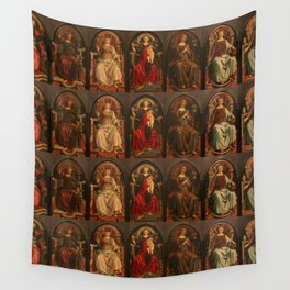 """Sandro Botticelli and Piero del Pollaiolo """"Theological and cardinal virtues"""" Wall Tapestry"""