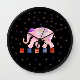 elephant and sky . Wall Clock