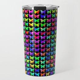 Rainbow Butterflies Travel Mug