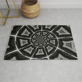 Black and White Spiral 07 Rug