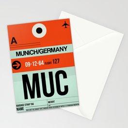 MUC Munich Luggage Tag 2 Stationery Cards