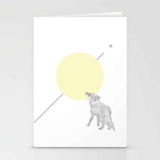 Bite the moon Stationery Cards