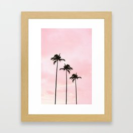 Palm Tree Photography Peach | Blush Pink | Millennial Pink | Miami Framed Art Print