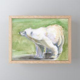 Posed Polar Bear Framed Mini Art Print