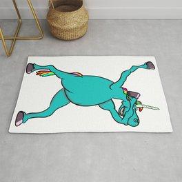 Unicorn Dabbing Rug