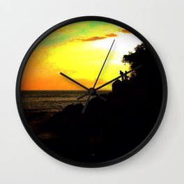 Sunset Chasers Wall Clock