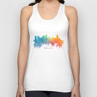 minneapolis Tank Tops featuring Skyline Minneapolis colored by jbjart