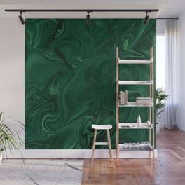 Modern Cotemporary Emerald Green Abstract Wall Mural