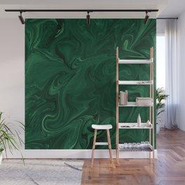 Modern Cotemporary Emerald Green Abstract Wall Mural