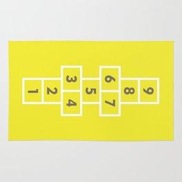 Hopscotch Yellow Rug