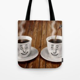 Hot Coffee Time in the Kitchen Tote Bag