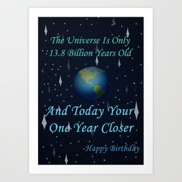 The Universe And You Art Print