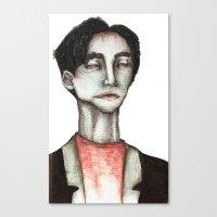 robert farkas Canvas Prints featuring Robert by zoe kayser