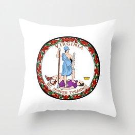 Virginia Seal Throw Pillow