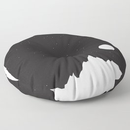 Mountain Sky Night Floor Pillow