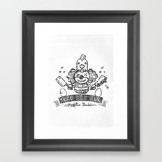 Crazy Clown Framed Art Print