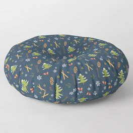 Winter Wonderland - Navy Floor Pillow