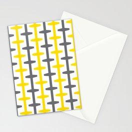 Geometric Pattern 209 (yellow gray) Stationery Cards