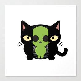 Alien cat furniture Design by diegoramonart Canvas Print