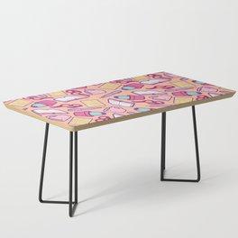 Book Club Pattern in Peach Coffee Table