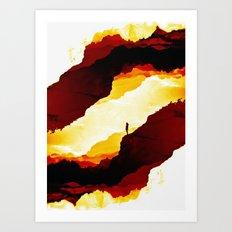 Red Isolation Art Print