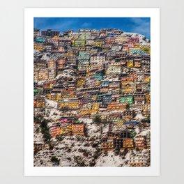 Winter Cityscape of Shimla, India by Jeanpaul Ferro Art Print