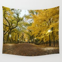 literary Wall Tapestries featuring Central Park New York City by Vivienne Gucwa