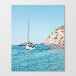 Sailboat in Mallorca Spain Canvas Print