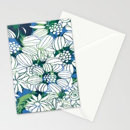 Whimsical Line Work Flowers Stationery Cards
