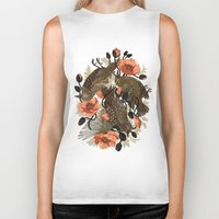 birds Biker Tanks featuring Spangled & Plumed by Teagan White