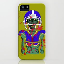 Zombie Football Player iPhone Case
