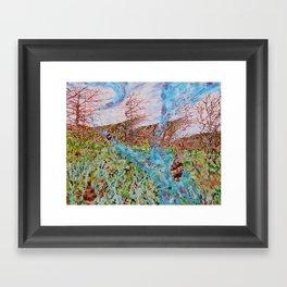 Mountains landscape Leanne C. Miller Framed Art Print