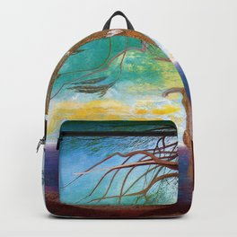 The Lonely Cedar, Coastal Landscape Painting by Csontváry Kosztka Tivadar Backpack