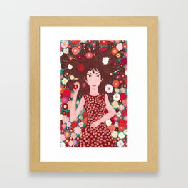the flowers' daughter Framed Art Print