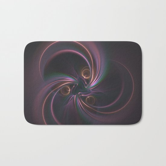 Moons Fractal in Warm Tones Bath Mat