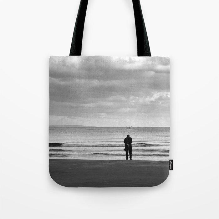 BEACH DAYS XXV BW MAN SILHOUETTE Tote Bag