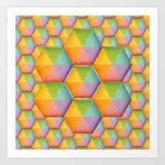 Rainbow Facets Art Print
