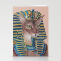 egyptian Stationery Cards featuring Egyptian Cat by Rachel Waterman