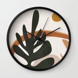 Abstract Plant Life I Wall Clock