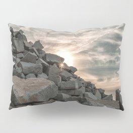 Rocks sky and sea Pillow Sham