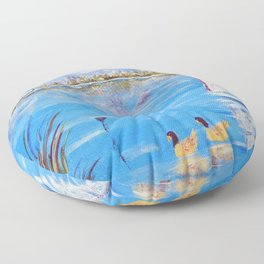 Pond Lovers | Amoureux de L'Etang Floor Pillow