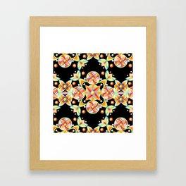 Suzani Stripe Pattern Framed Art Print