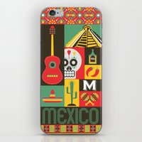 mexico iPhone & iPod Skins featuring Mexico by Victor Anaya