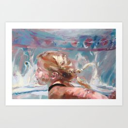 Jami Swimming II Art Print